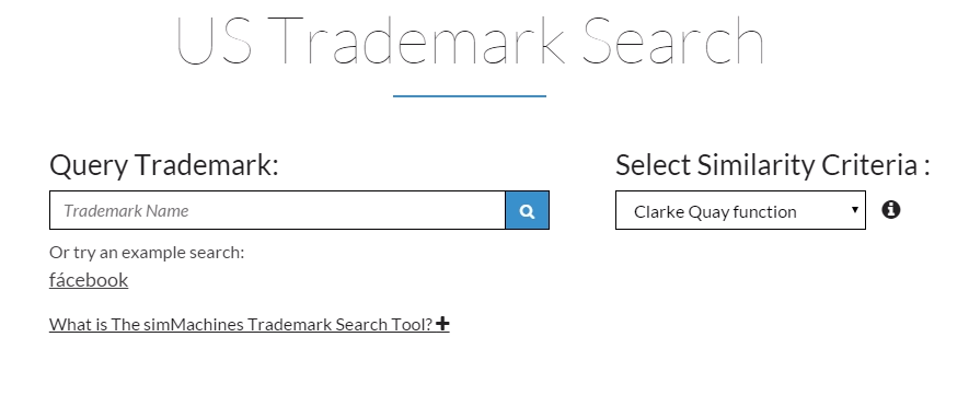 simMachines US Trademark Search Tool