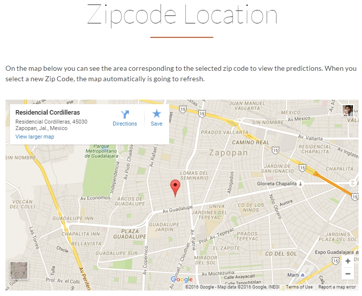simMachines Demand Forecasting Software Zip Code Map