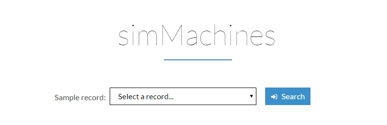 simMachines Sample Record Search